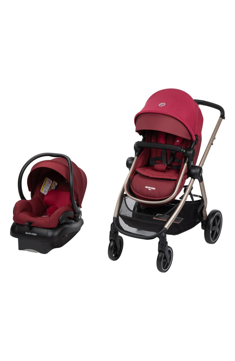 MAXI-COSI<SUP>®</SUP> 5-in-1 Mico 30 Infant Car Seat & Zelia2 Stroller Modular Travel System, Main, color, RADISH RUBY
