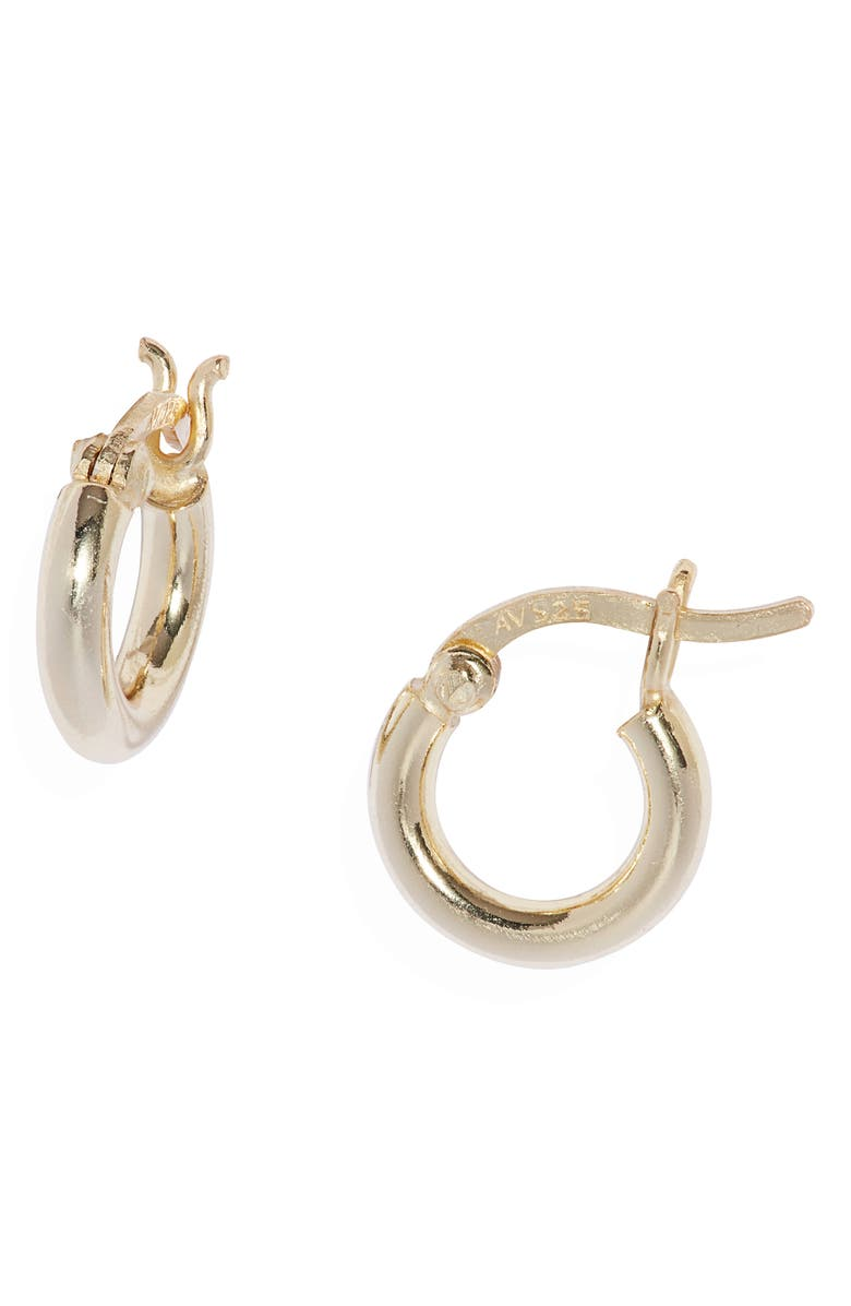 ARGENTO VIVO STERLING SILVER Small Hoop Earrings, Main, color, GOLD