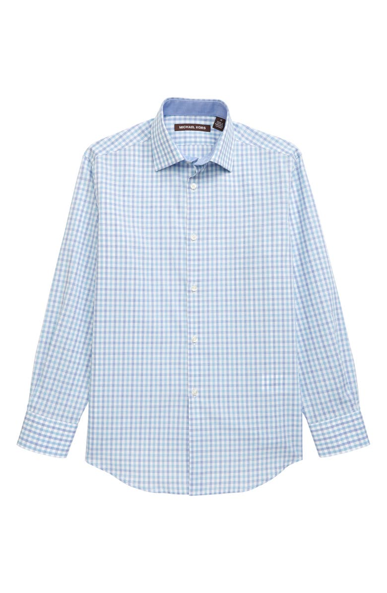 MICHAEL KORS Check Dress Shirt, Main, color, BLUE