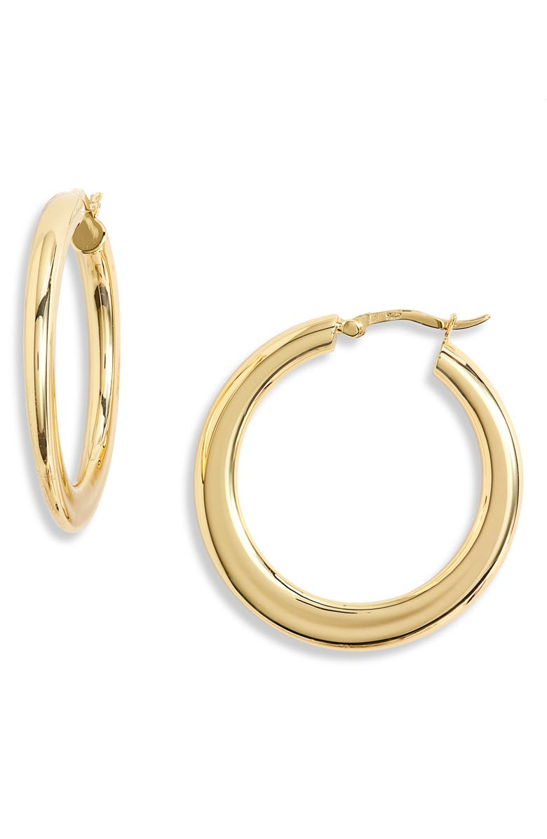 ARGENTO VIVO STERLING SILVER Graduated Hoop Earrings, Main, color, GOLD