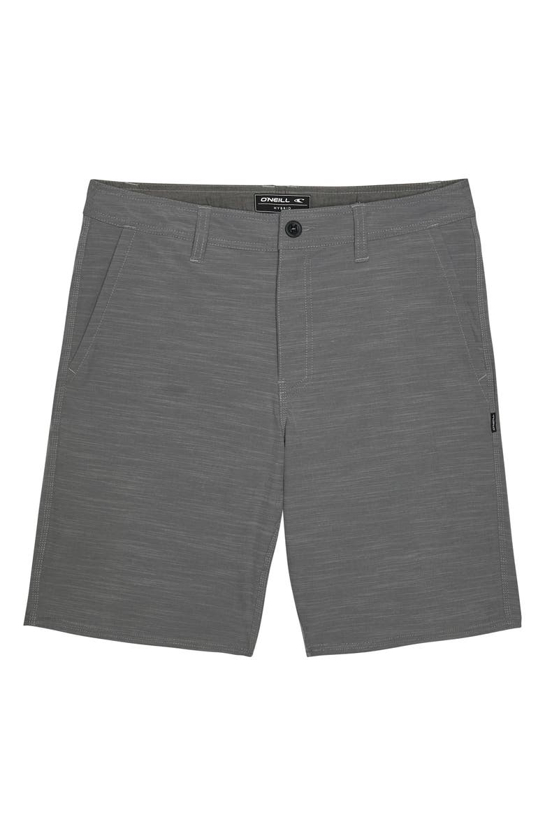 O'NEILL Locked Slub Hybrid Shorts, Main, color, GREY