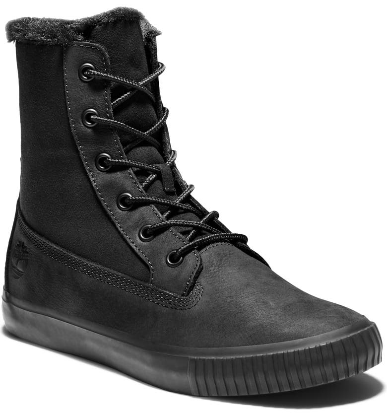 TIMBERLAND Skyla Bay Sneaker Boot, Main, color, BLACK NUBUCK LEATHER
