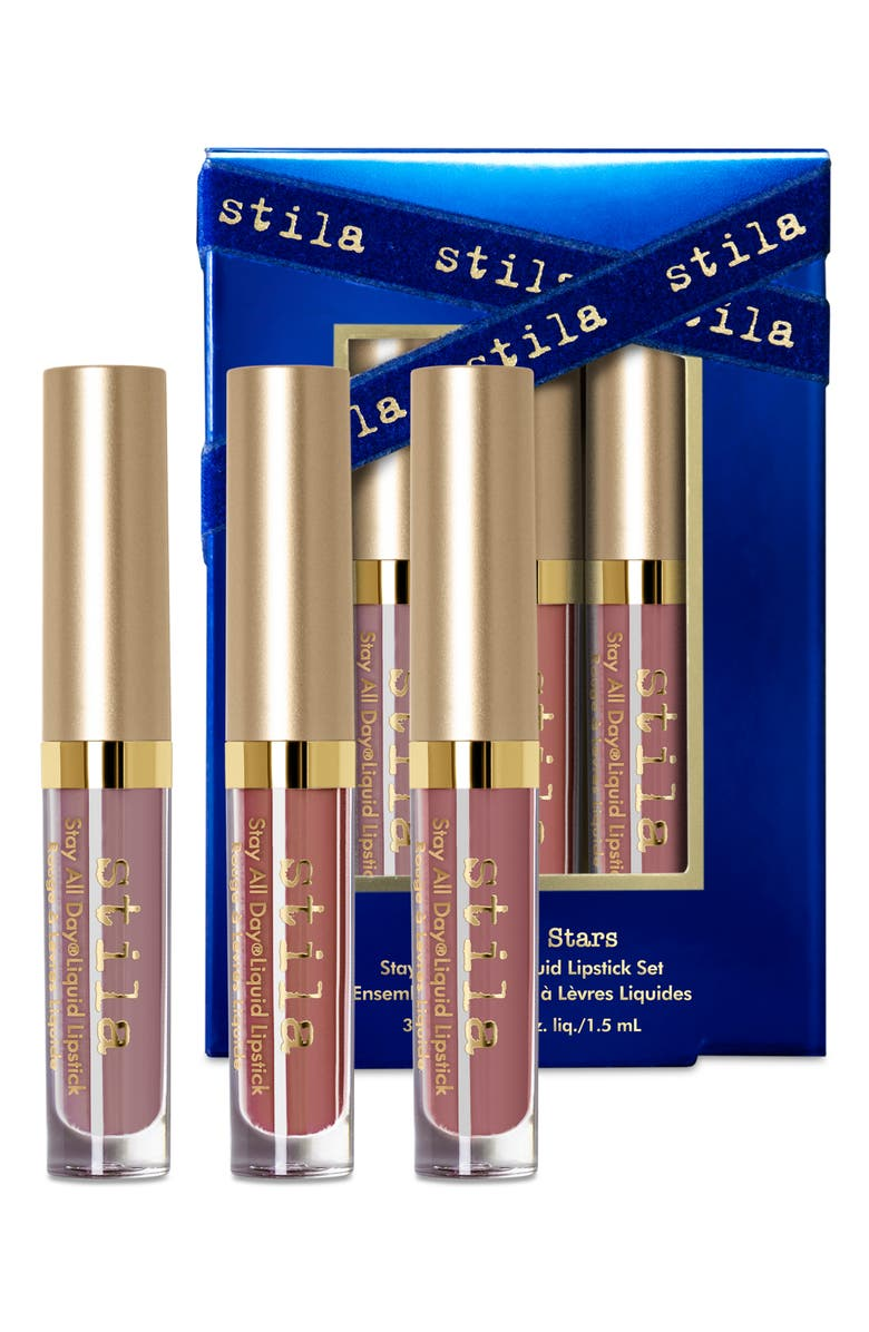 STILA Kiss The Stars Stay All Day<sup>®</sup> Travel Size Liquid Lipstick Set, Main, color, 000