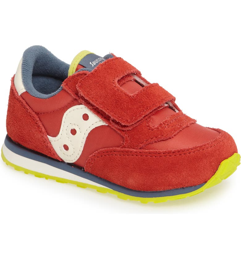 SAUCONY Jazz Sneaker, Main, color, RED/ BLUE/ LIME