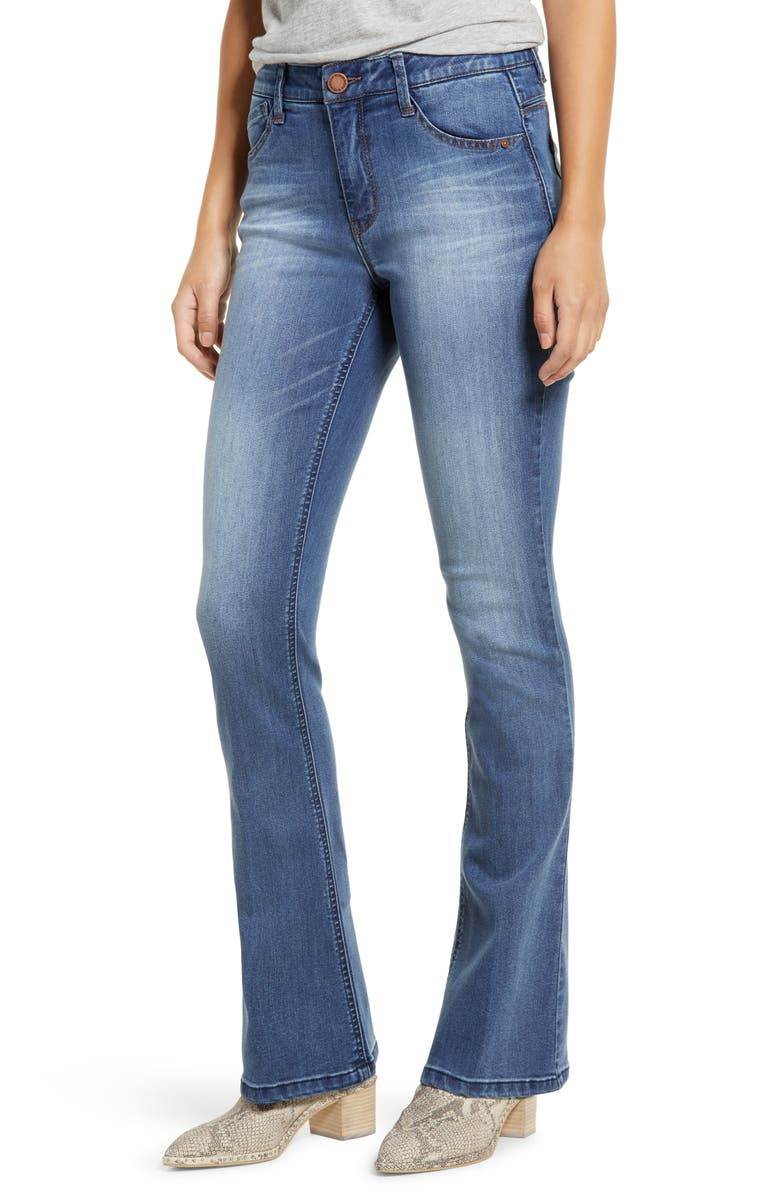 WIT & WISDOM Ab-Solution High Waist Itty Bitty Bootcut Jeans, Main, color, BLUE