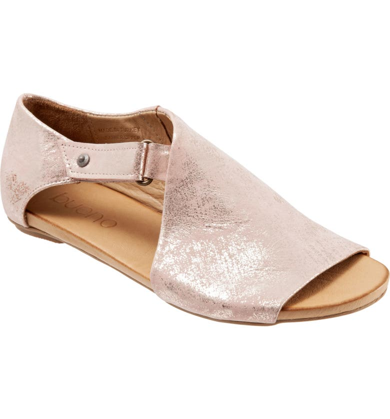 BUENO Kale Sandal, Main, color, ROSE GOLD METALLIC LEATHER