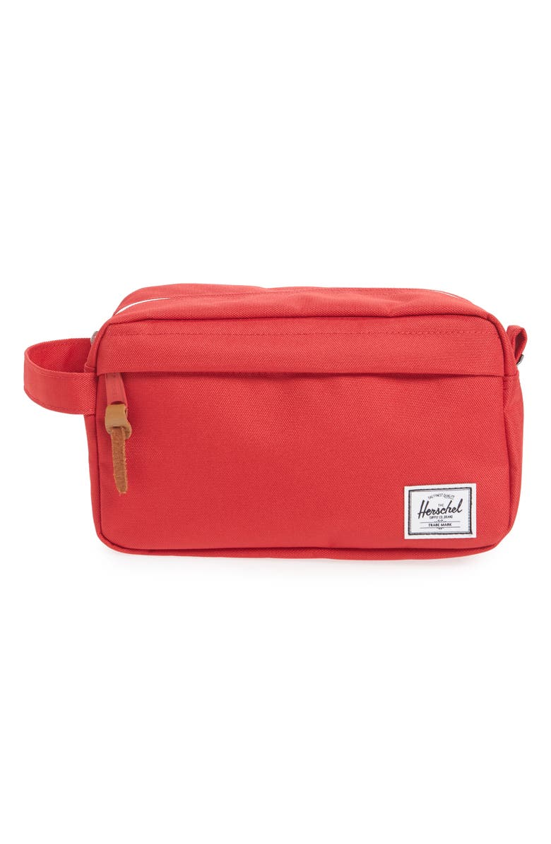 HERSCHEL SUPPLY CO. Chapter Dopp Kit, Main, color, RED TRAVEL