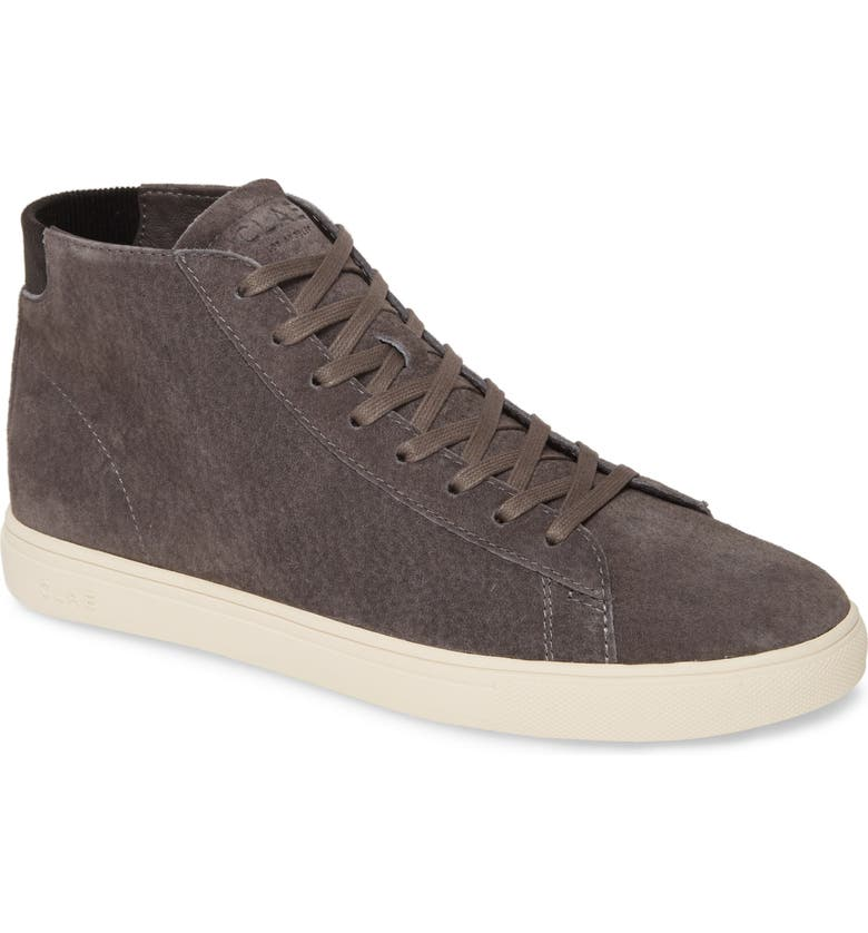CLAE Bradley Mid Sneaker, Main, color, DARK CHARCOAL PIG SUEDE