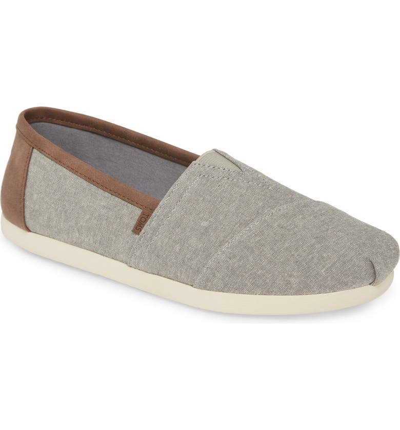 TOMS Alpargata Slip-On, Main, color, FROST GREY CHAMBRAY