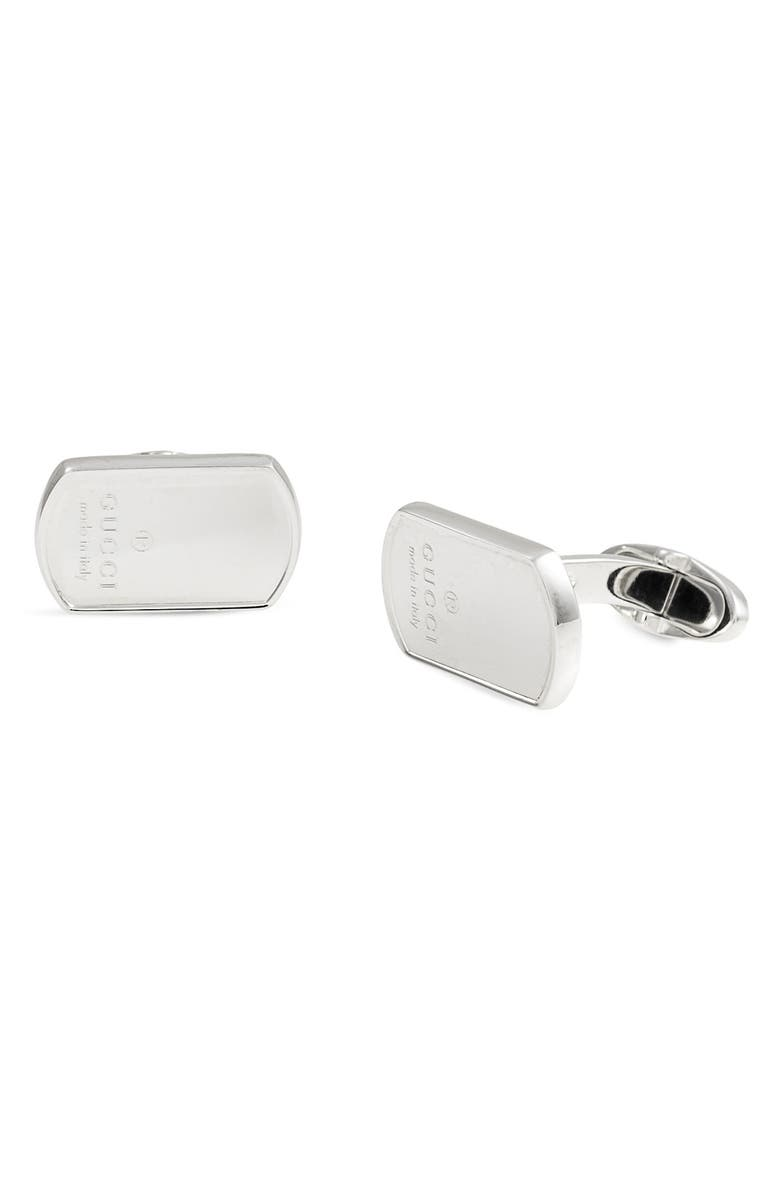 GUCCI 'Dog Tag' Cuff Links, Main, color, 040