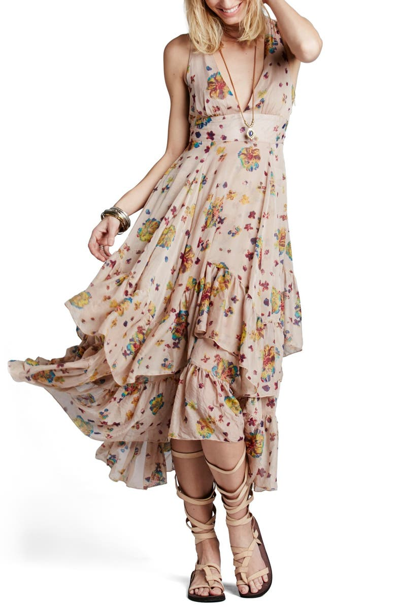 FREE PEOPLE 'Catching Glances' Floral Print Maxi Dress, Main, color, 900