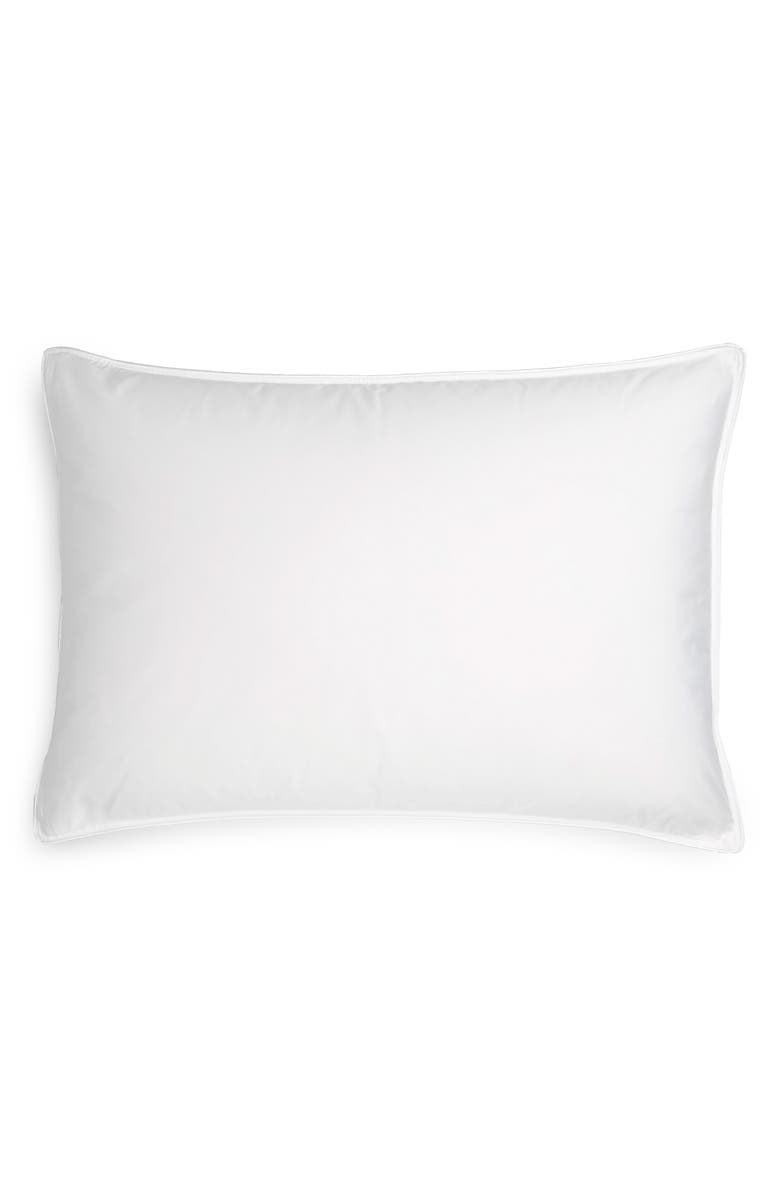 NORDSTROM Luxury Down 400 Thread Count Pillow, Main, color, WHITE
