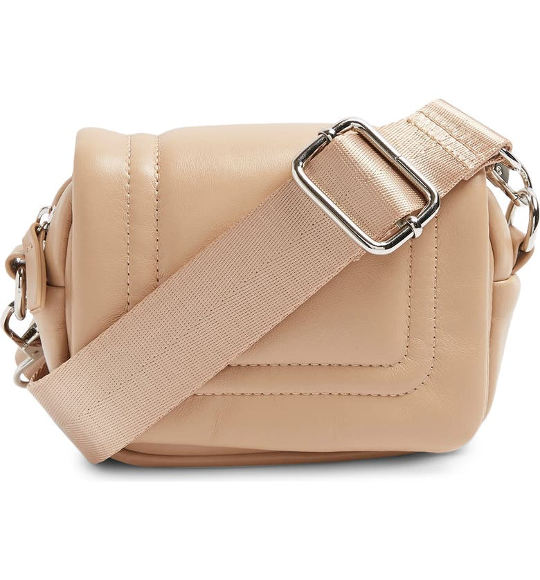 TOPSHOP Bagged Out Mini Crossbody Bag, Main, color, BEIGE
