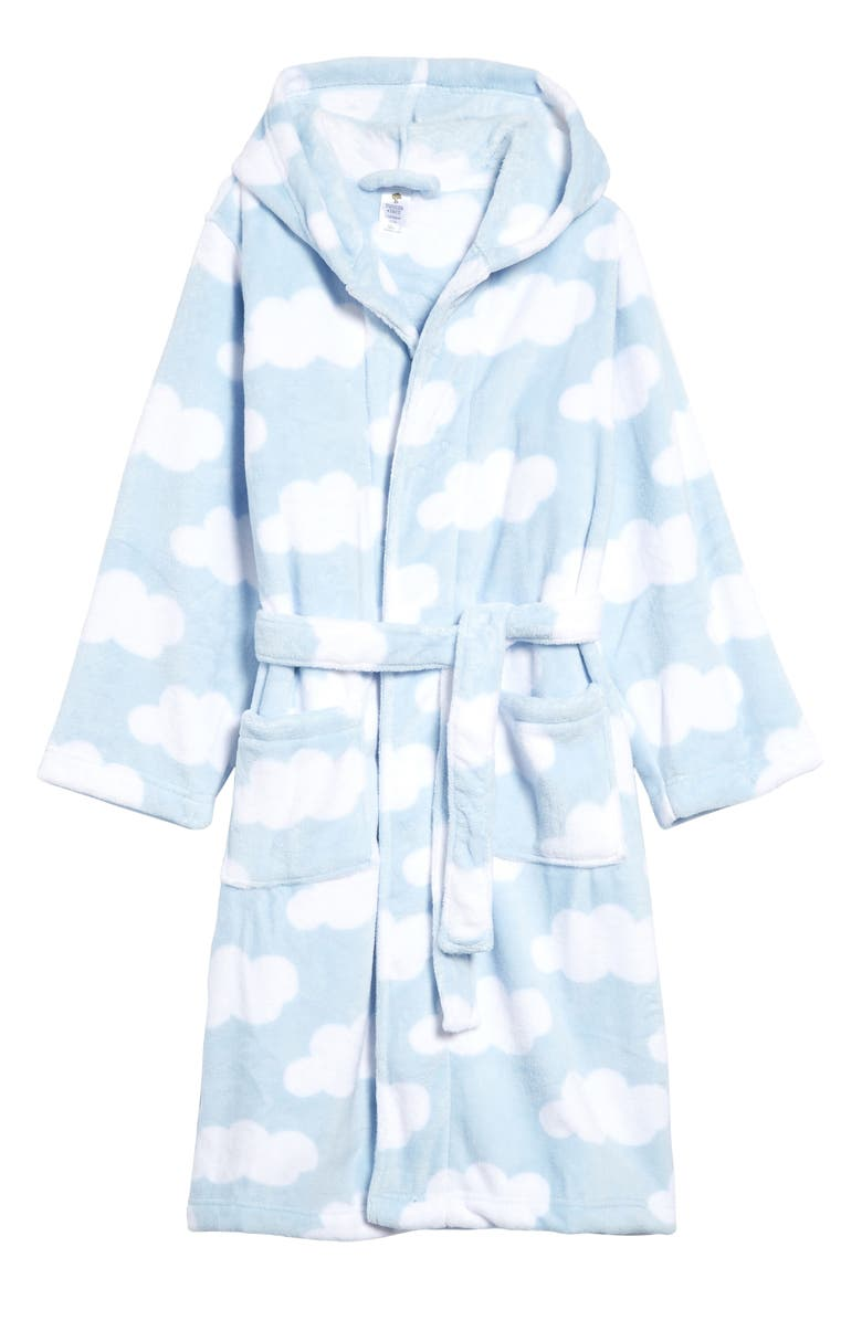 TUCKER + TATE Kids' Hooded Fleece Robe, Main, color, BLUE FALLS CLOUDS