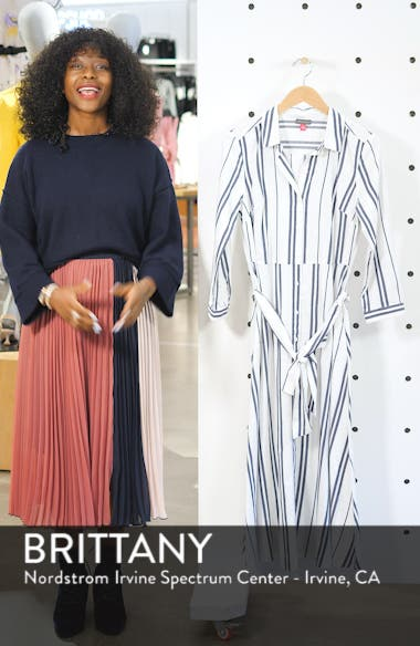 Valiant Stripe Midi Shirtdress, sales video thumbnail