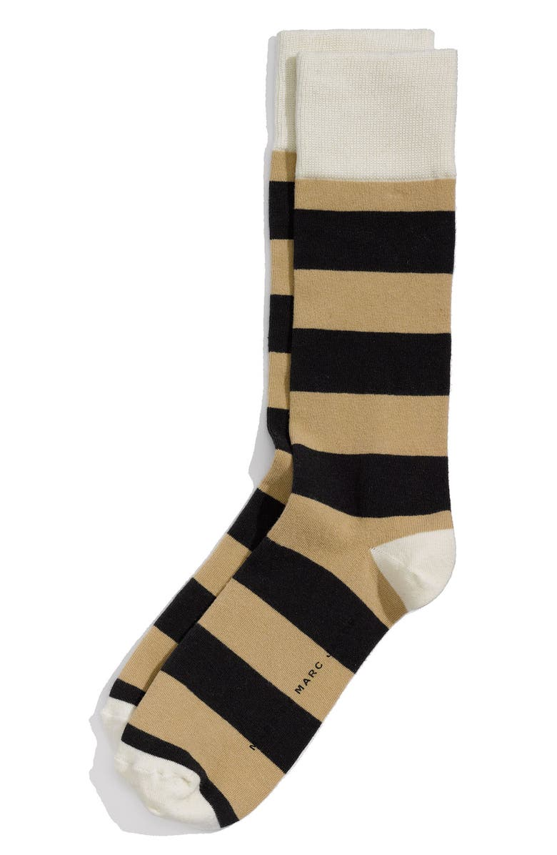 MARC BY MARC JACOBS Stripe Socks, Main, color, WASHED INK