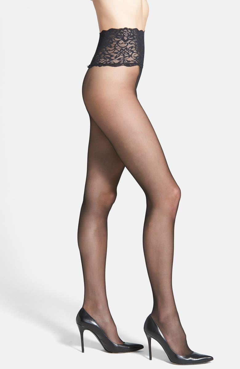 COMMANDO The Sexy Sheer Pantyhose, Main, color, BLACK
