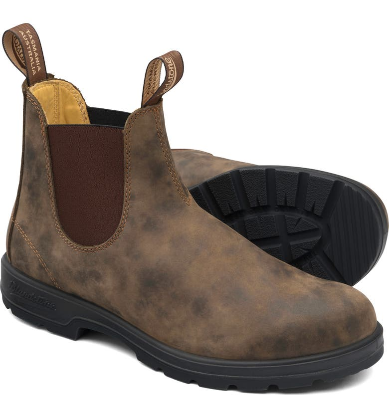 BLUNDSTONE FOOTWEAR Blundstone Classic 550 Series Water Resistant Chelsea Boot, Main, color, RUSTIC BROWN LEATHER