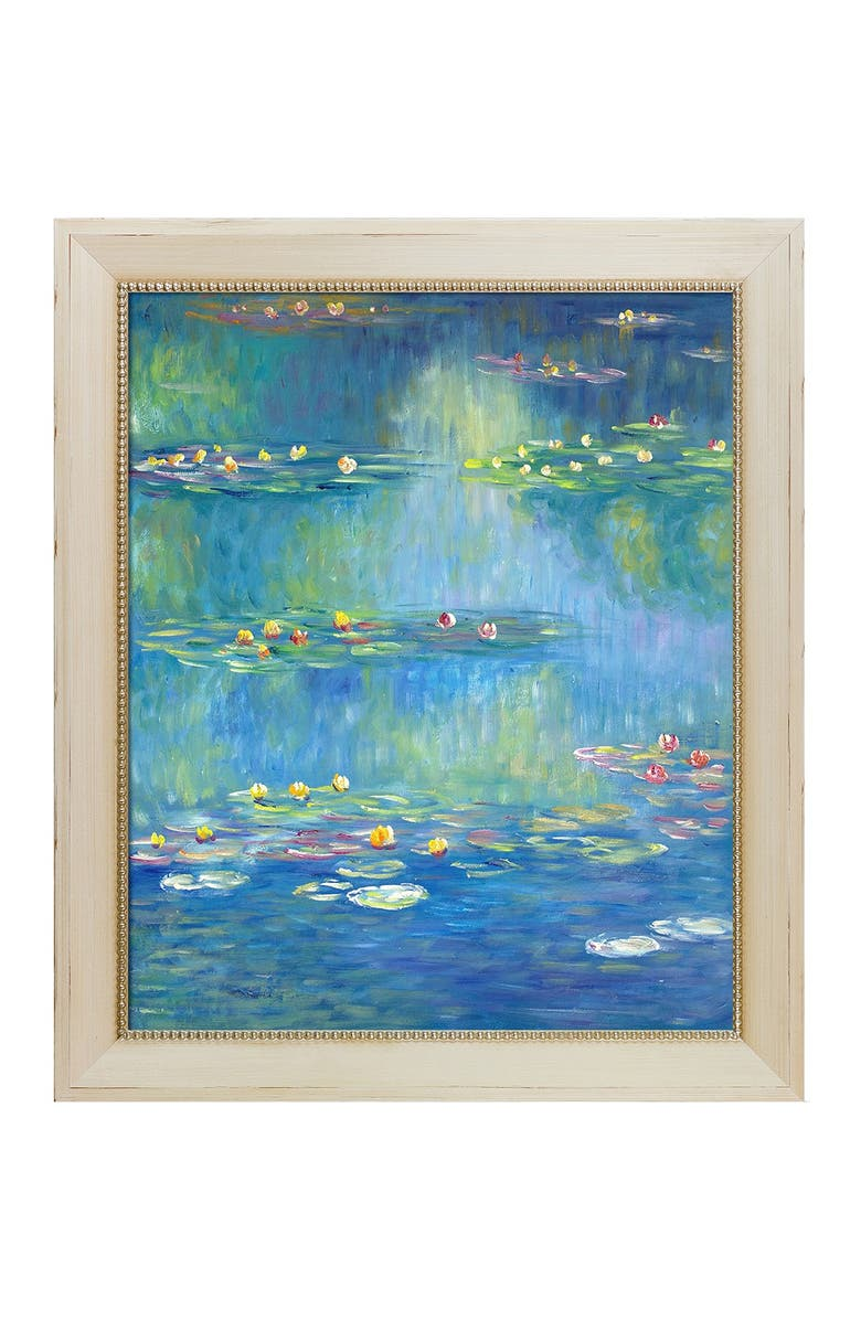 OVERSTOCK ART Nympheas at Giverny, 1908 Framed Oil Reproduction of an Original Painting by Claude Monet, Main, color, MULTI