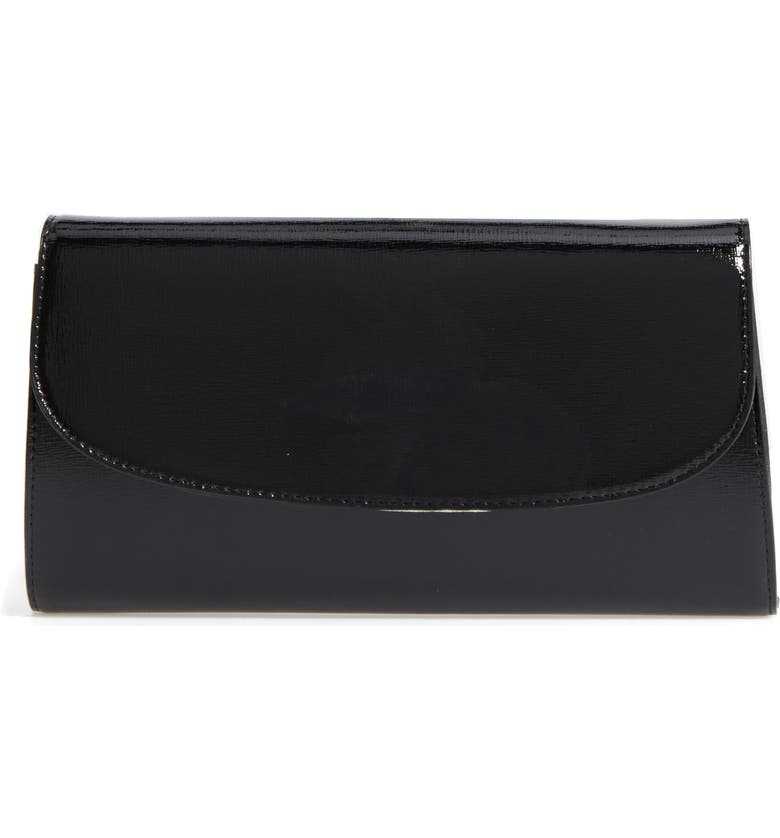 14TH AND UNION Leather Clutch, Main, color, BLACK