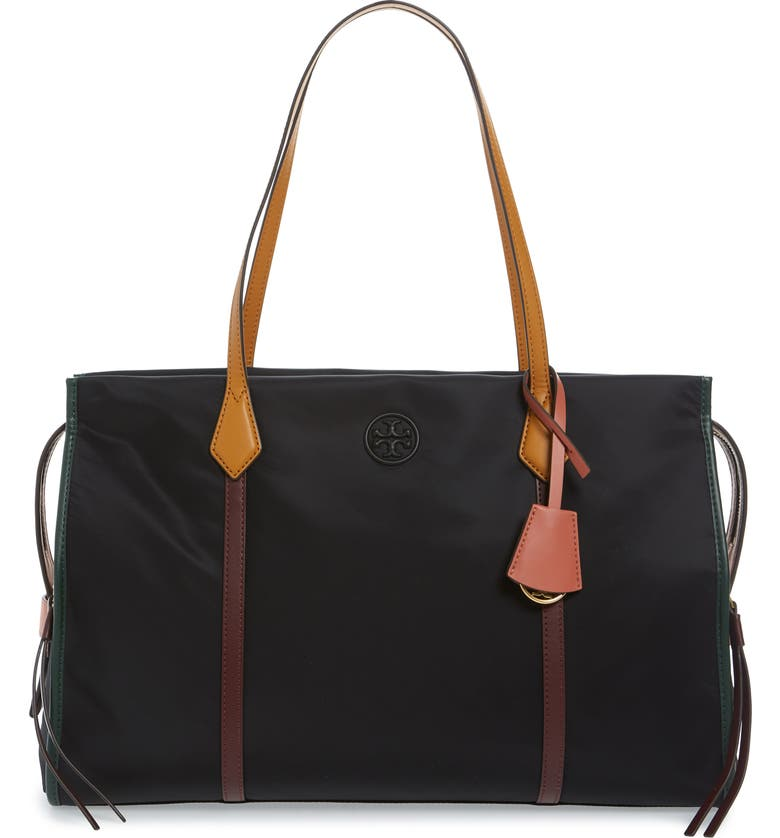 TORY BURCH Perry Nylon Tote, Main, color, 001