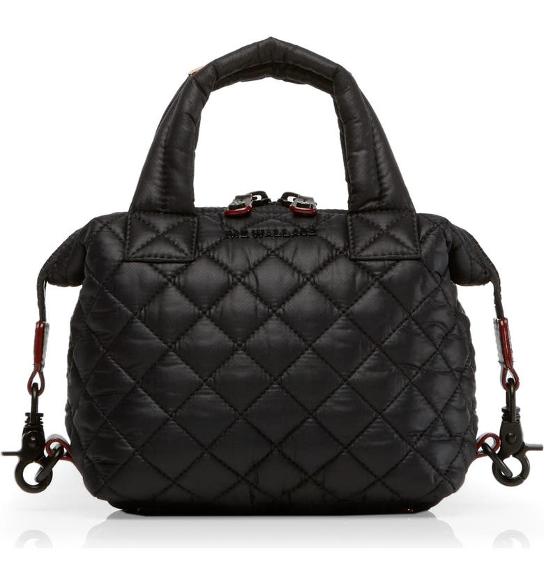 MZ WALLACE Micro Sutton Bag, Main, color, BLACK