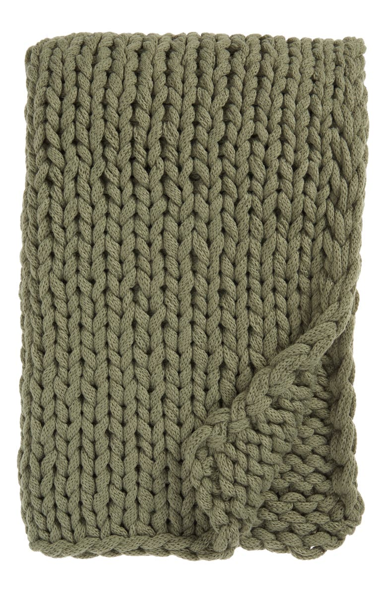 TREASURE & BOND Jersey Rope Throw Blanket, Main, color, 310