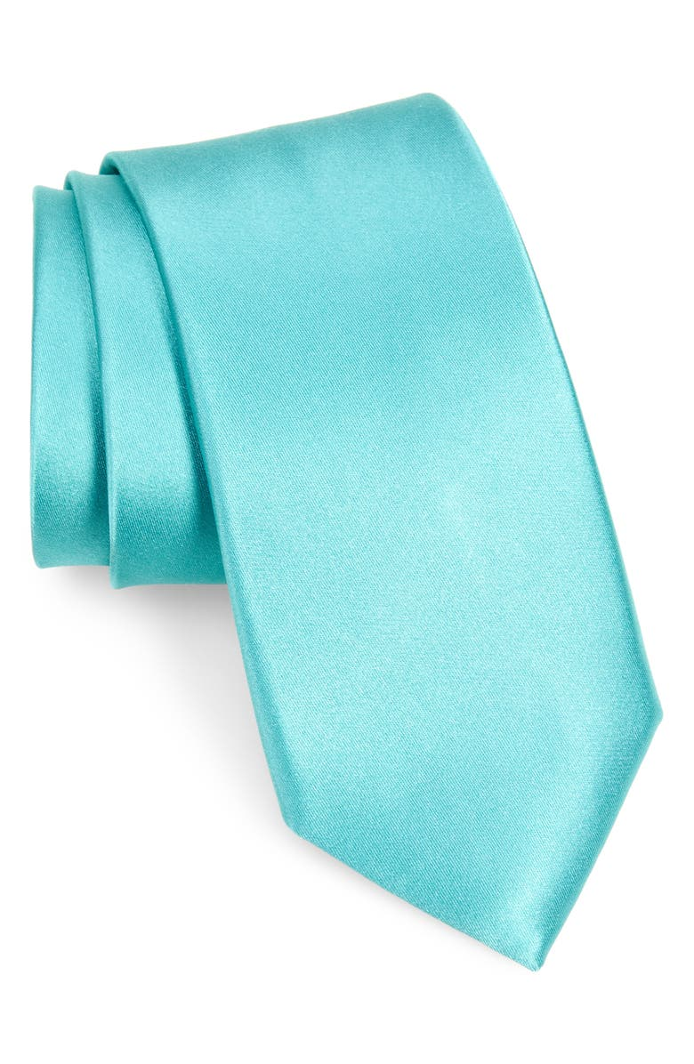NORDSTROM MEN'S SHOP Nordstrom Solid Silk Tie, Main, color, MINT