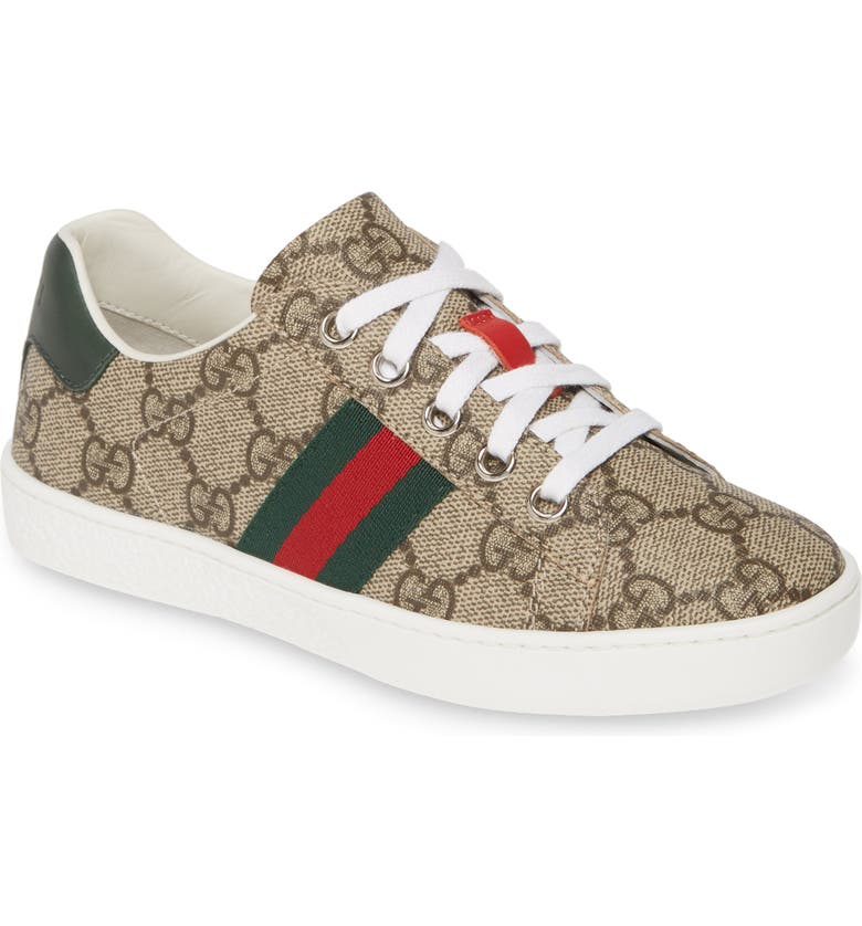 GUCCI New Ace Sneaker, Main, color, 100