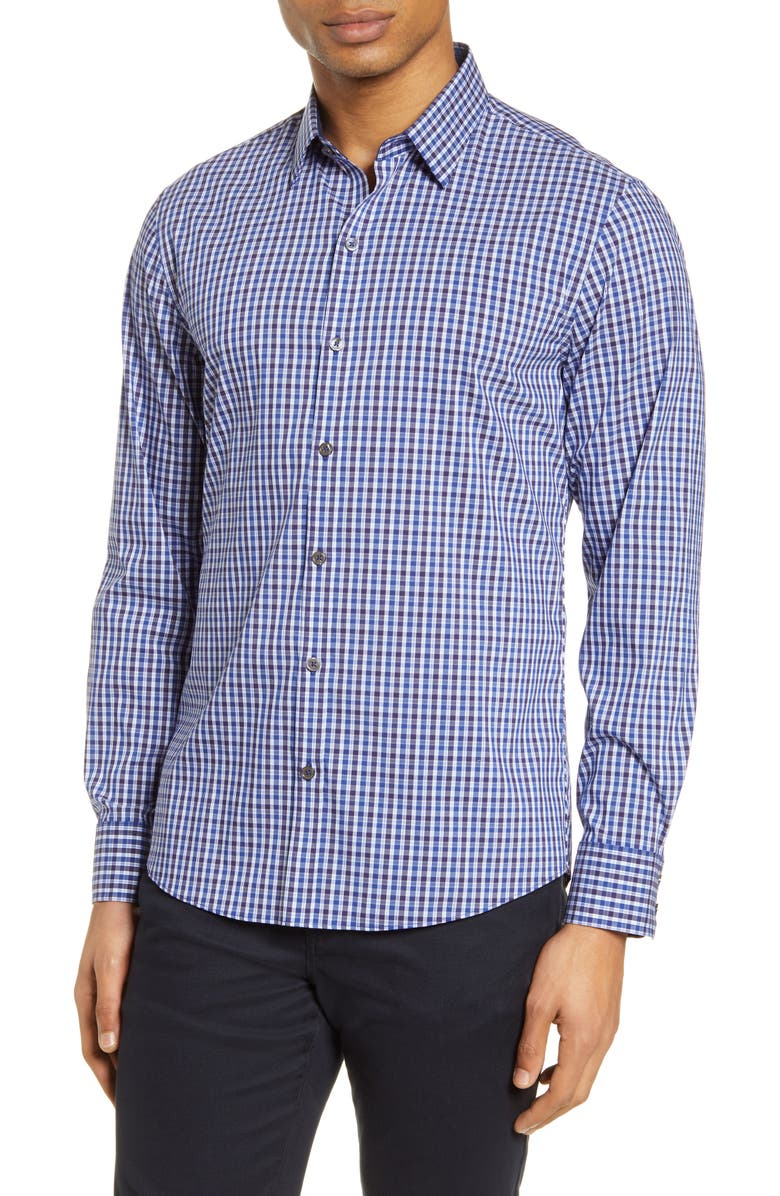 ZACHARY PRELL Classic Fit Check Button-Up Shirt, Main, color, 400