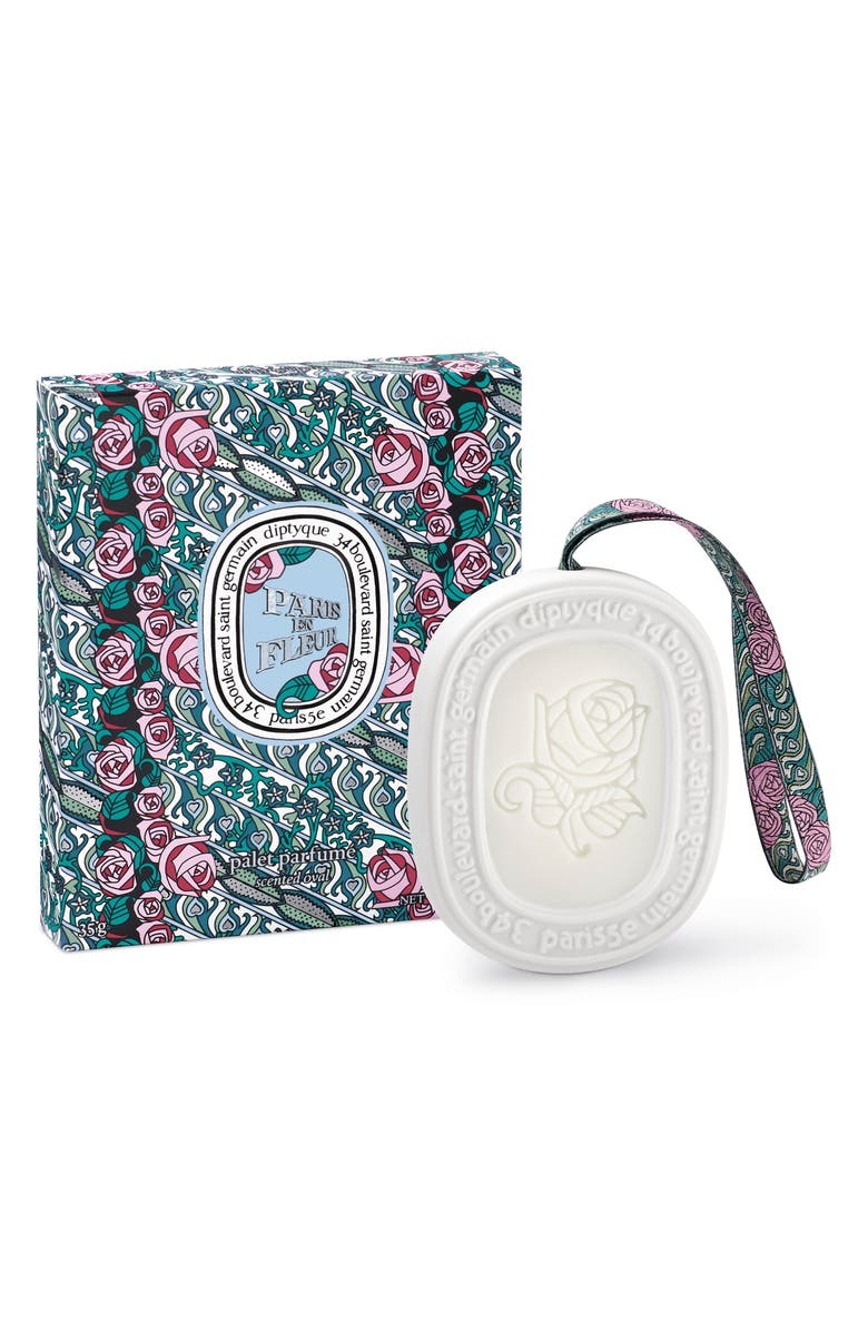 DIPTYQUE Paris en Fleurs Scented Oval, Main, color, 000