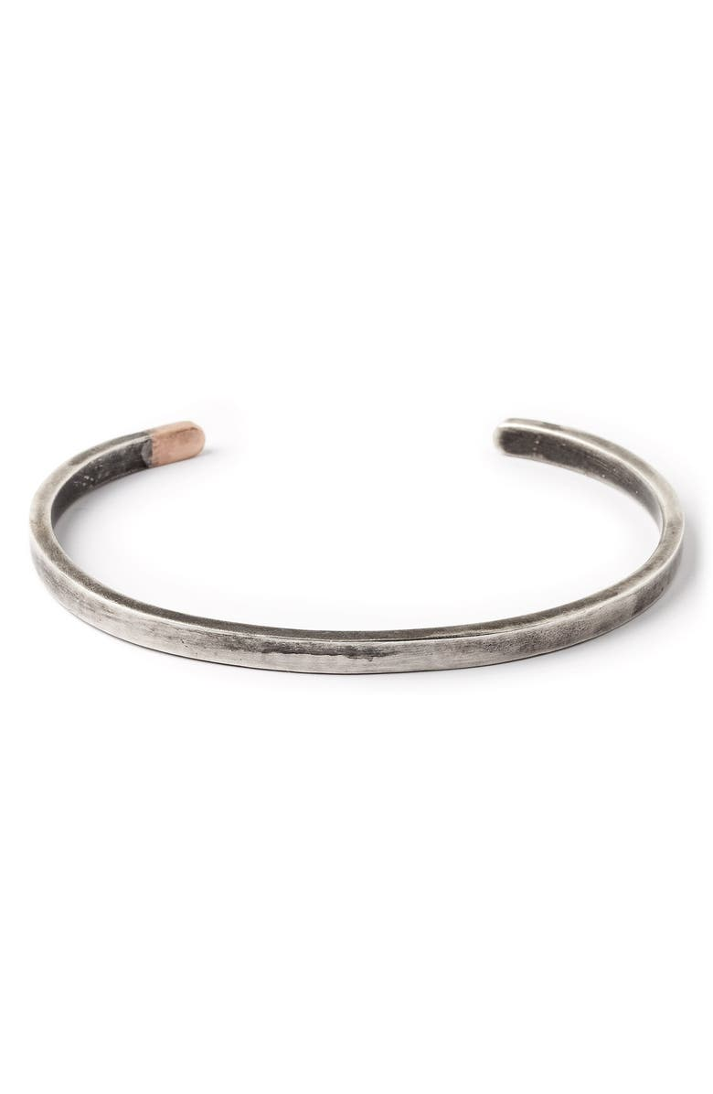 TITLE OF WORK Thin Cuff Bracelet, Main, color, 040