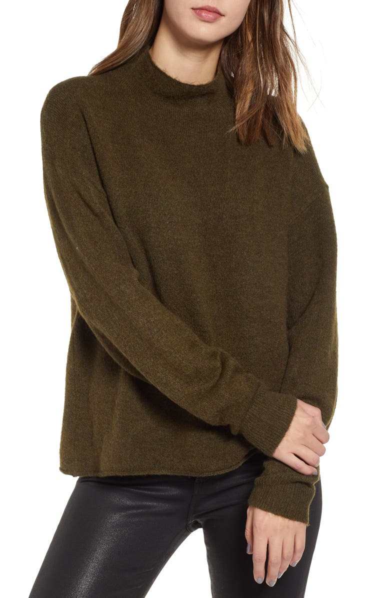 LEITH Cozy Mock Neck Sweater, Main, color, 301