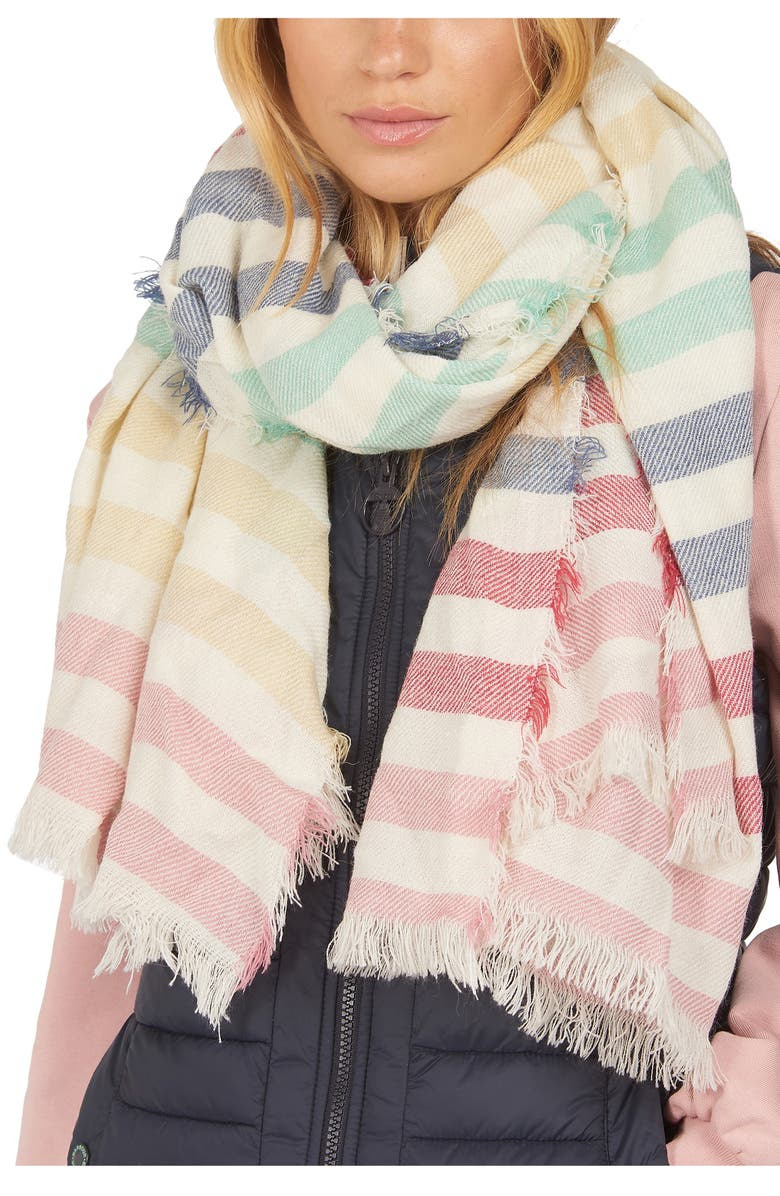 BARBOUR Beachfront Rainbow Wrap, Main, color, MULTI