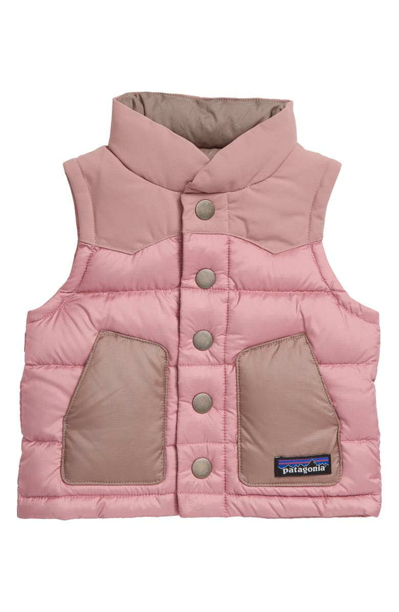 PATAGONIA Water Repellent 700 Fill Power Down Vest, Main, color, ARTIFACT PINK