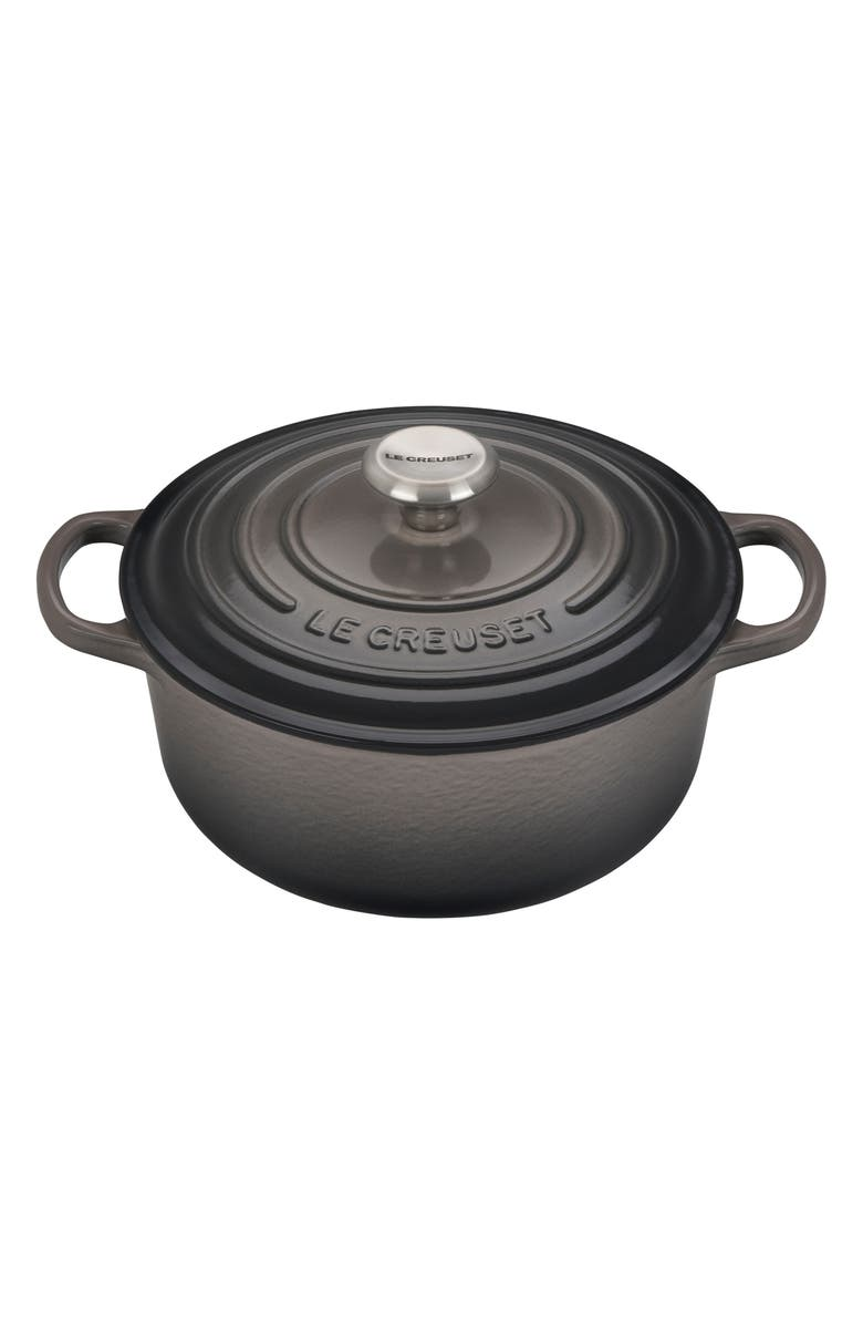 LE CREUSET 2.75-Quart Signature Round French/Dutch Oven, Main, color, OYSTER