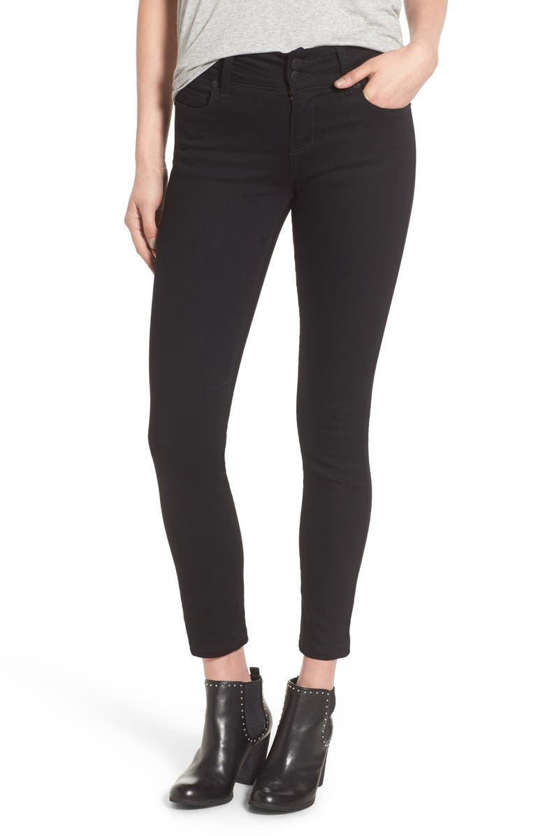 STS BLUE Double Button Skinny Jeans, Main, color, Black