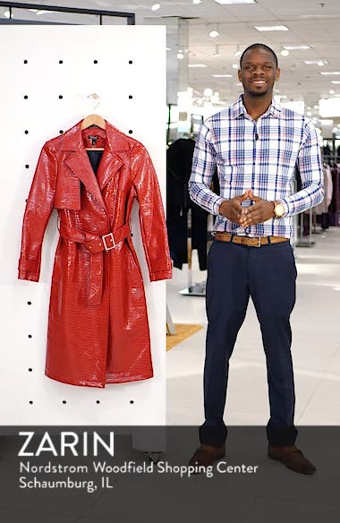 Croc-Embossed Trench Coat, sales video thumbnail