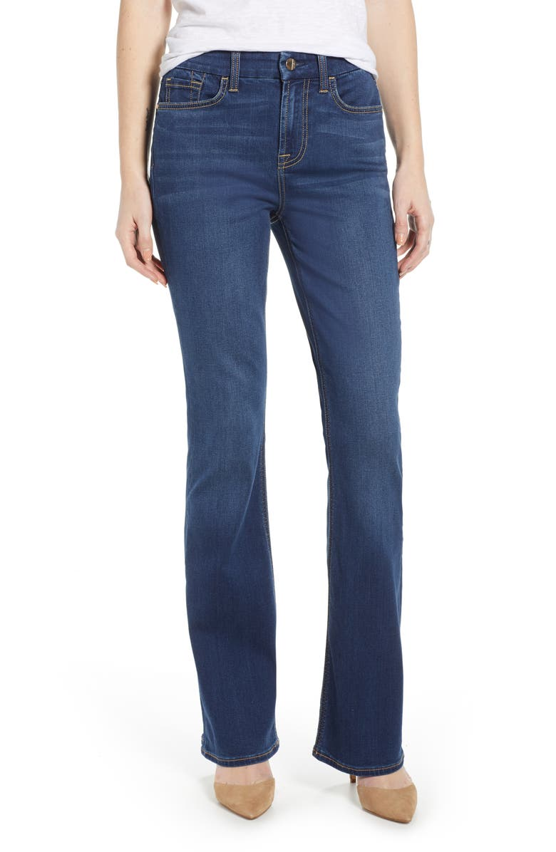 JEN7 BY 7 FOR ALL MANKIND Slim Bootcut Jeans, Main, color, CLASSIC MEDIUM BLUE