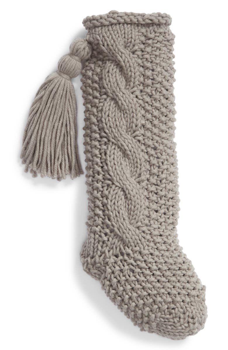 NORDSTROM at Home Cable Knit Stocking, Main, color, 021