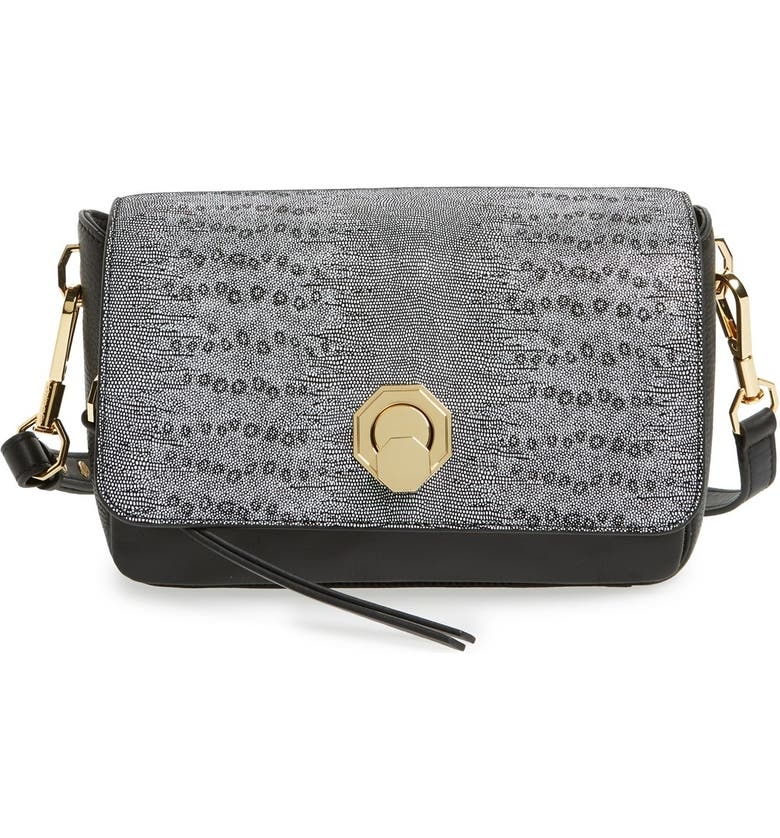 LOUISE ET CIE 'Small Alis' Leather Crossbody Bag, Main, color, 001