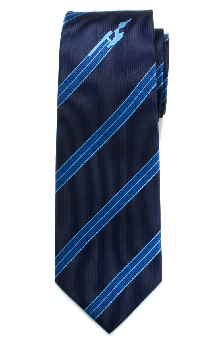 CUFFLINKS, INC. Star Trek Enterprise Silk Tie, Main, color, BLUE
