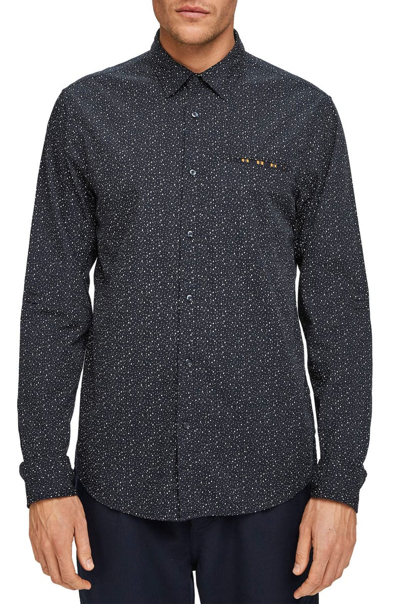 SCOTCH & SODA Slim Fit Button-Up Pocket Shirt, Main, color, 021