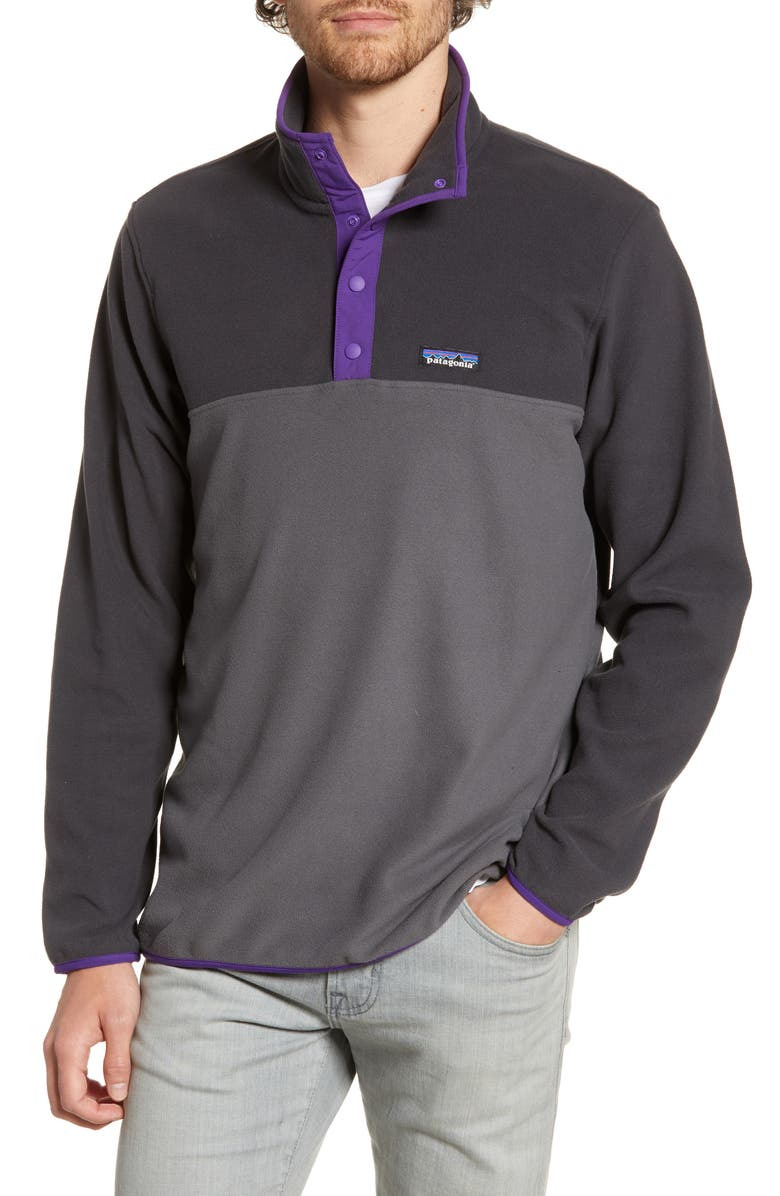 PATAGONIA Micro-D<sup>®</sup> Snap-T<sup>®</sup> Fleece Pullover, Main, color, FORGE GREY