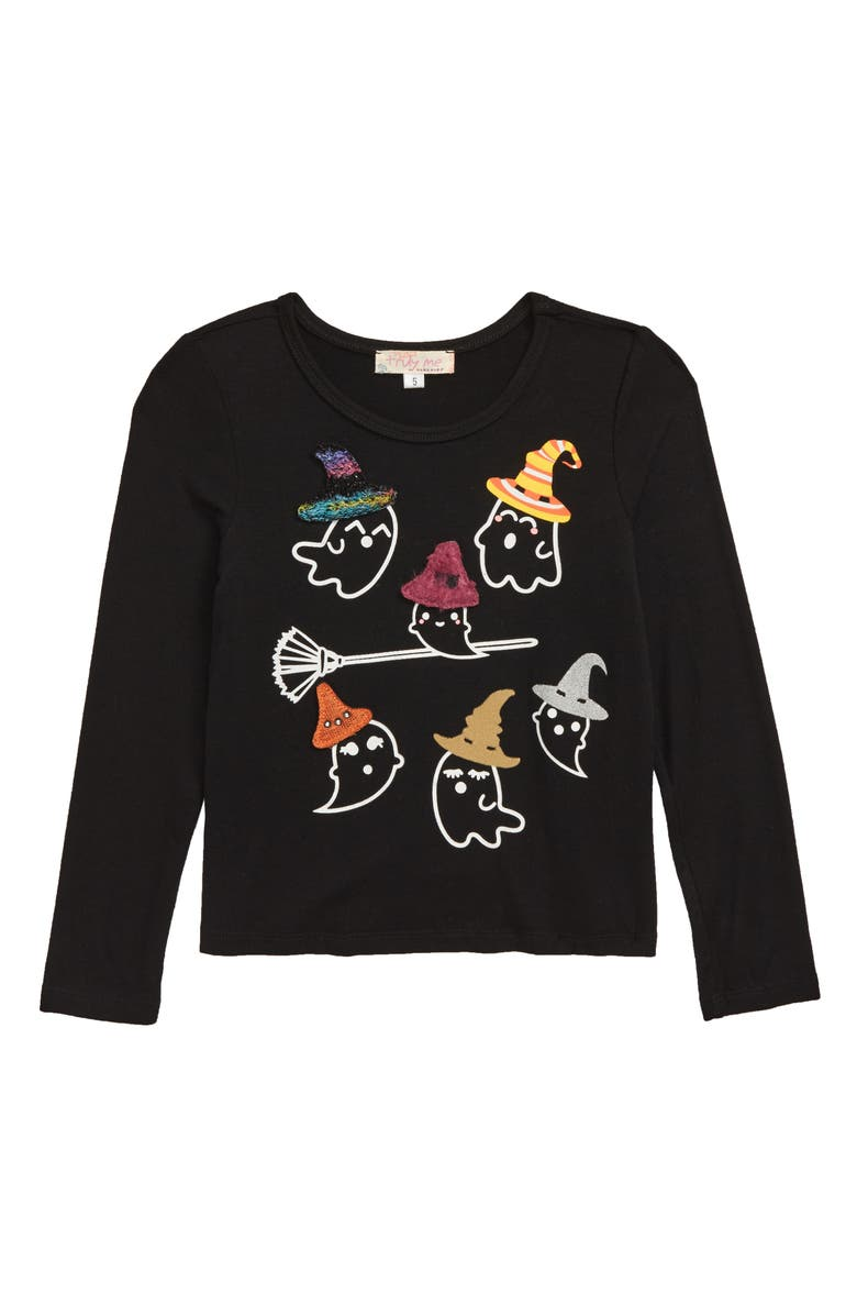 TRULY ME Glow in the Dark Ghosts Shirt, Main, color, 006