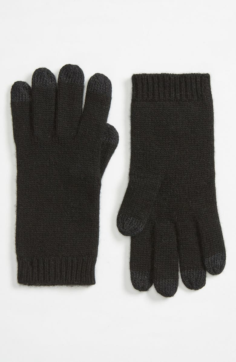 UGG<SUP>®</SUP> 'Luxe Smart' Tech Gloves, Main, color, 001