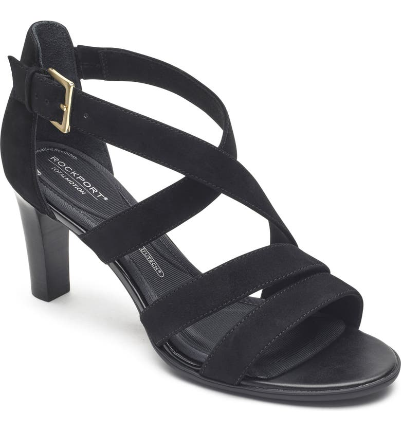 ROCKPORT Total Motion Edith Strappy Sandal, Main, color, 001