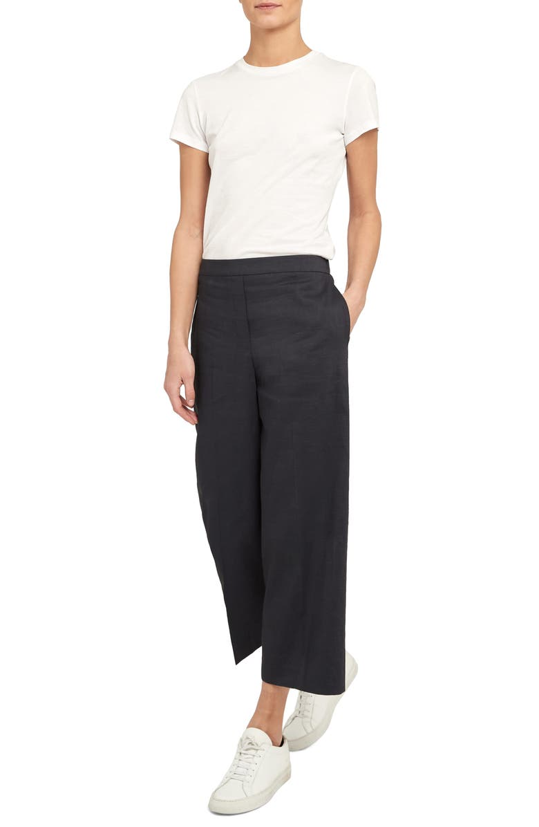 THEORY Crop Wide Leg Pants, Main, color, CONCORD