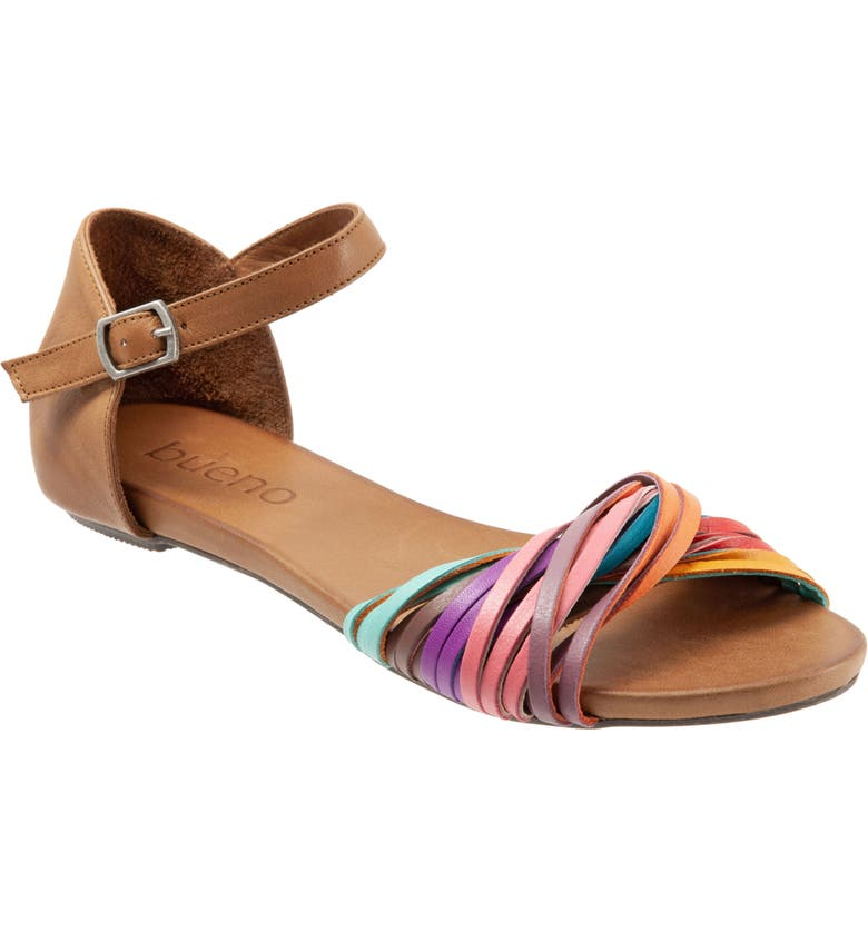 BUENO Cara Sandal, Main, color, BRIGHT MULTI LEATHER