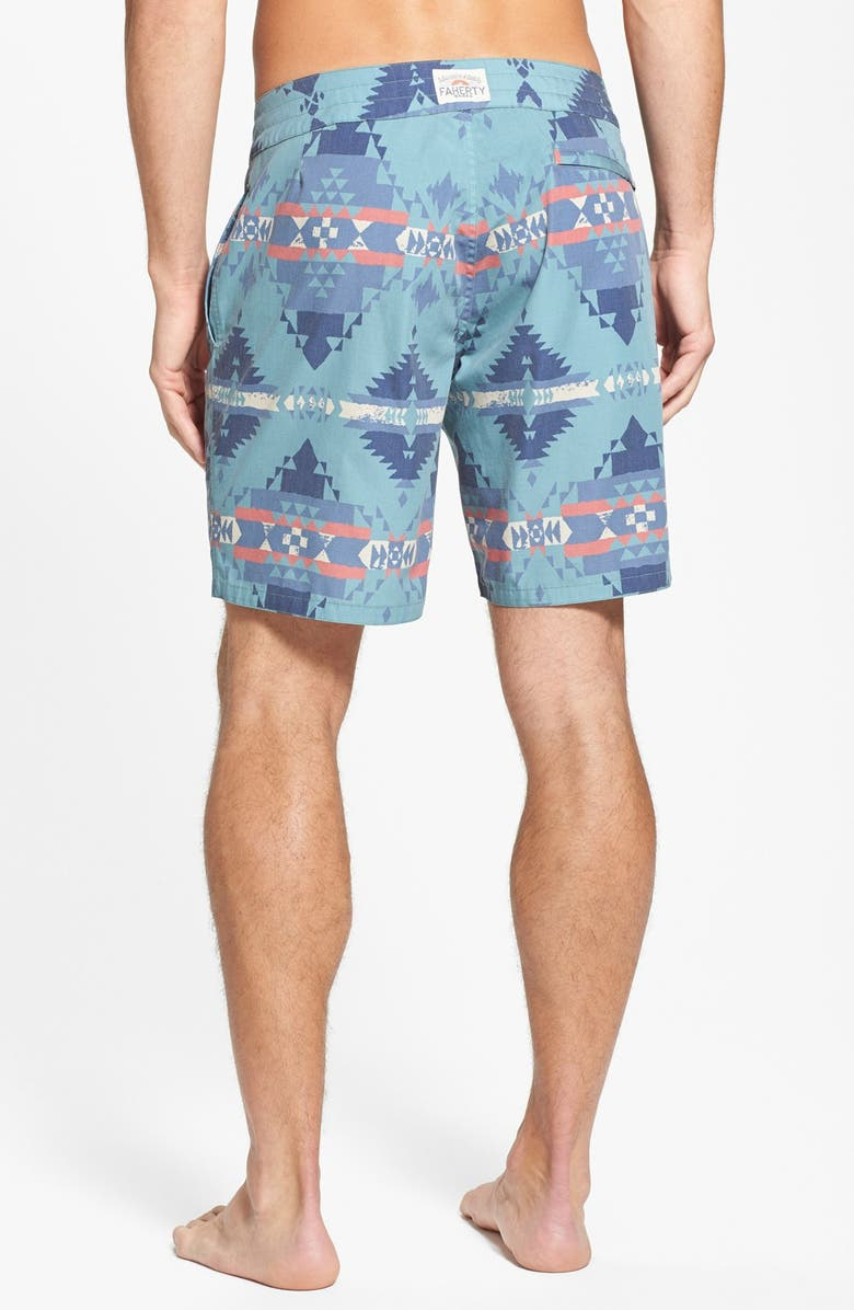 FAHERTY Recycled Fabric Print Board Shorts, Main, color, 310